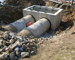 Tying existing Storm Water piping to the new Vault at Clayton Drive Storm Drainage