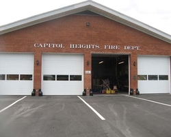 New Overhead Doors at the Renovation of Capitol Heights Volunteer Fire Department