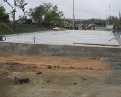 Concrete Floor Slab at the Anacostia Jet Truck Garage
