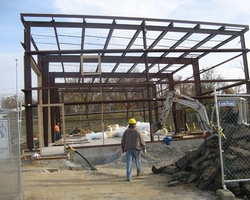 Structural Steel Framework at the Anacostia Jet Truck Garage