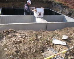 Precast Concrete Vault for the Raystown Lake Concrete Toilets for the Army Corps of Engineer