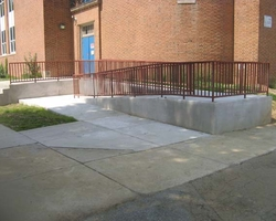 Handicapped Access Ramp at the Phoenix Annapolis Center Elevator and Ramp Addition