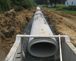 Storm Drain Elliptical Piping and Inlet at Duckett Road Storm Drainge Improvement