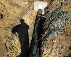 HDPE Piping and Inlet at Oriole Drive Storm Drainage Improvement