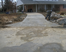 New Concrete Driveway at Oriole Drive Storm Drainage Improvement