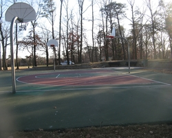 Installed Basketball Court at Douglass Patterson Community Park