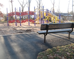 Installed Playground equipment at Douglass Patterson Community Park
