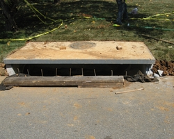 "Inlet with Curb and Gutter installation at ""Seminole Place Storm Drainage Improvement"